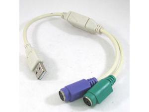 USB PS2 ADAPTER CABLE for KEYBOARD and MOUSE PS/2