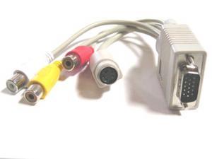 VGA SVGA to S-Video AV 3 RCA TV Converter Cable S-Video