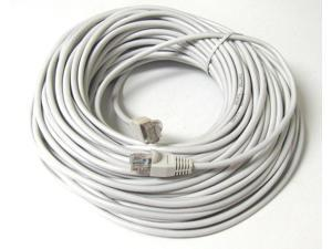 50FT RJ45 CAT5 CAT 5 HIGH SPEED ETHERNET LAN NETWORK WHITE PATCH CABLE