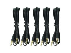 Car Audio Stereo Aux Cord 3.5mm Cable for Apple iPod Iphone Samsung & PC, 5-Pack