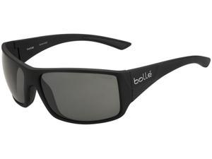 BOLLE TIGERSNAKE SUNGLASSES (POLARIZED TNS OLEO AF LENS SHINY BLACK FRAME)