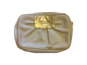 Cle De Peau Gold and Beige Makeup Cosmetic Bag