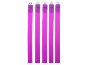 Litop 4GB Pack of 5 - Purple  USB 2.0 Flash Drive Wrist  Band Design with 1 Free Wrist Strap and 1 Free Necklace  Strap