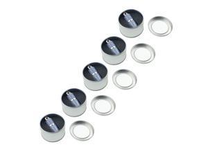 Litop 1GB Pack of 5 Blue Crystal Lipstick Jewelry Shape USB Flash Drive USB 2.0 Memory Disk