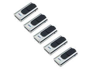 Litop Pack of 5 Silver Color 4GB USB Flash Drive USB 2.0 Memory Disk