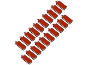 Litop 4GB Pack Of 20- Orange Metal Swivel Style USB Flash Drive Digital Data Traveler USB 2.0