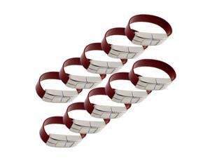 Litop 1GB Leather Wrist Band Shape USB 2.0 Memory Disk U Disk USB Flash Drive for High Quality Transfer Data (10 PCS Silver with Brown, 1GB)