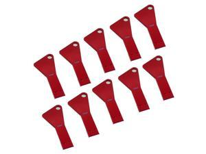 Litop 64GB Metal Key Triangle Shape USB 2.0 Memory Disk U Disk USB Flash Drive for High Quality Transfer Data (10 PCS Red, 64GB)