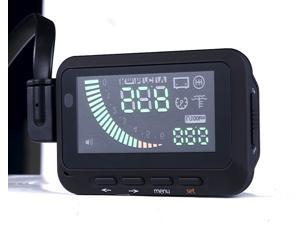 F-01 Car Vehicle automobile HUD Head Up Display System OBDII Fuel Consumption Overspeed Warning - Black