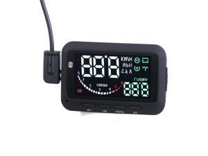 "F-02 2.8"" Screen HUD Head Up Display System for Car 2.8"" screen speeding warn fuel consumption- Black"