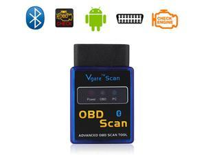 ELM327 Vgate Bluetooth OBD2 Auto Car Diagnostics Scanner Tool For Android Support all OBDII protocols - Blue