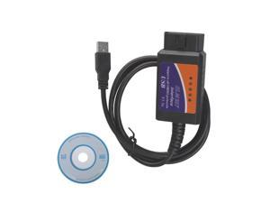OBD OBD2 OBDII USB Car Diagnostic Cable - Black (DC 12V)