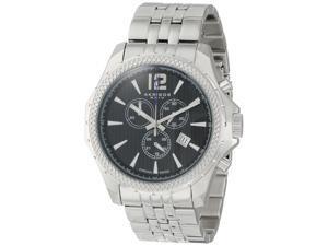 Akribos XXIV Men's AK662SSB Ultimate Swiss Chronograph Black Dial Stainless Steel Bracelet Watch
