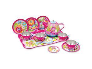 Garden Fun Tin Tea Set - Pretend Play Toys by Schylling (GFTTS)