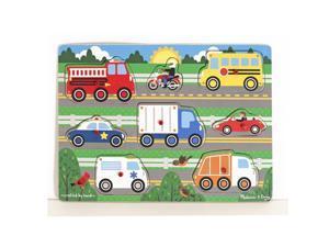 Vehicles Peg Puzzle 8 pcs. - Wooden Puzzle by Melissa & Doug (9051)