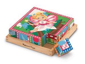 Princess & Fairies Cube Puzzle - Wooden Puzzle by Melissa & Doug (9040)