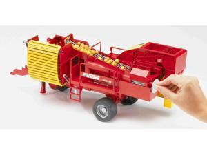 Grimme Potato Digger with 80 Potatoes - Vehicle Toy by Bruder Trucks (02130)
