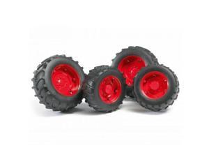Twin Tires Red Rim 02000 Series - Vehicle Toy by Bruder Trucks (02322)