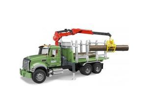 Mack Granite Timber Truck with Crane - Vehicle Toy by Bruder Trucks (02824)