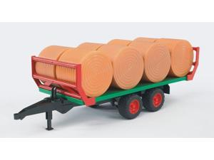 Bale Trailer with 8 Bales - Vehicle Toy by Bruder Trucks (02220)