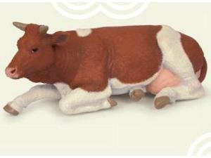 Lying Simmental Cow - Play Animal Figure by Papo Figures (51151)