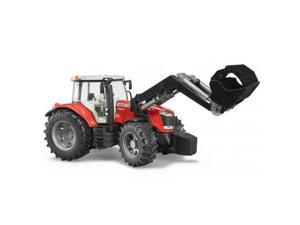 Massey Ferguson 7600 Red Tractor with Loader Vehicle Toy Bruder Trucks (03047)