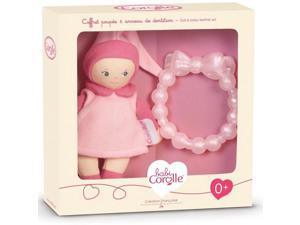 Pink Mini Miss & Baby Teether - Infant Baby Toy by Corolle (BKD17)
