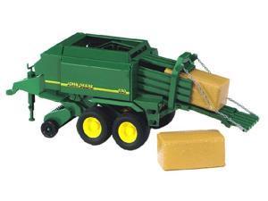 Big Hay Bale Press (John Deere) - Vehicle Toy by Bruder Trucks (09800)