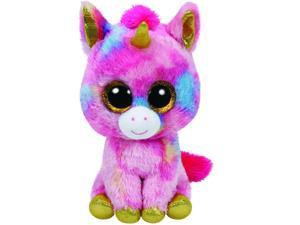Fantasia Pink Unicorn Beanie Boo Large - Stuffed Animal by Ty (36819)