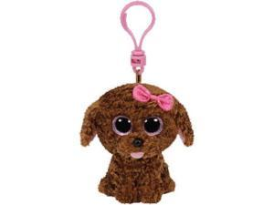 Maddie Brown Dog Beanie Boo Clip - Stuffed Animal by Ty (36618)