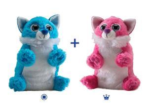 Blue & Pink Fox Switch-A-Rooz - Stuffed Animal by Wild Republic (17720)