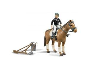Horse & Woman Rider with Access. (Horse Colors Vary) Vehicle Toy Bruder (62505)