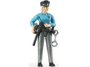 Policewoman - Light Skin with Accessories Vehicle Toy by Bruder Trucks (60430)