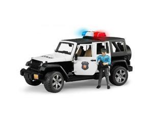 Jeep Wrangler Rubicon Police Vehicle with Policeman by Bruder (02526)