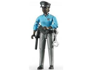 Policewoman - Dark Skin with Accessories - Vehicle Toy by Bruder Trucks (60431)