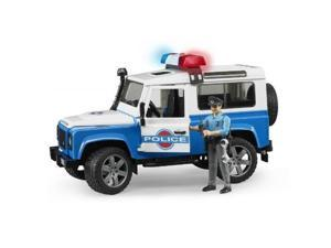 Land Rover Defender Police Vehicle with Policeman Vehicle Toy by Bruder (02595)
