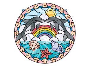 Dolphins Stained Glass - Craft Kit by Melissa & Doug (9291)