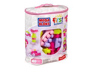 Big Bulding Bag Pink 80 pcs. - Building Set by MEGA Bloks (DCH62)
