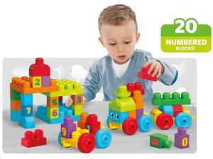 123 Learning Train - First Builders - 50 pcs. by MEGA Bloks (DKX60)
