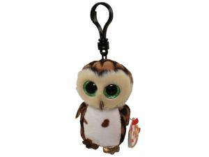 Sammy Brown Owl Boo Clip - Stuffed Animal by Ty (35005)
