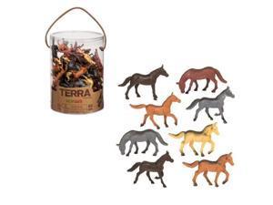Horses Terra Tube 60 pcs. - Play Animals by Battat (68807)