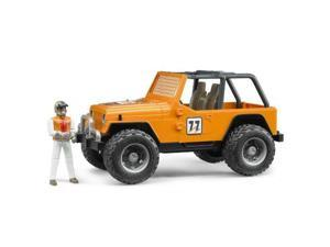 Jeep CC Racer Orange with Man - Vehicle Toy by Bruder Trucks (02542)