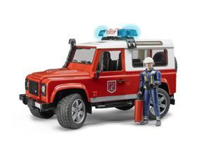 Land Rover Fire Vehicle with Man - Vehicle Toy by Bruder Trucks (02596)