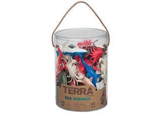 Sea Animals Terra Tube 60 pcs. - Play Animals by Battat (68812)