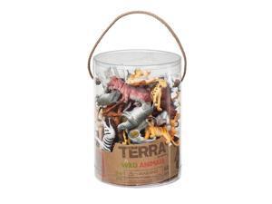Wild Animals Terra Tube 60 pcs. - Play Animals by Battat (68806)