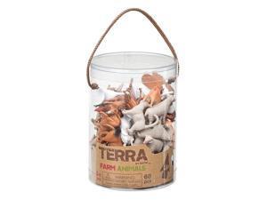 Farm Animals Terra Tube 60 pcs. - Play Animals by Battat (68808)