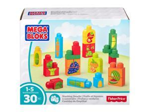 Stacking Snacks - Fruits and Veggies - Building Set by MEGA Bloks (DPY42)