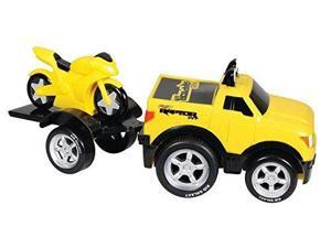 Soft F150 & Motorcycle Pull-Back - Vehicle Toy by Kid Galaxy (10916)