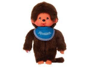 Monchhichi Boy with Blue Bib - Stuffed Animal by Schylling (255040)