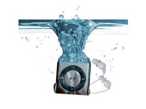 Underwater Audio Waterproof iPod Shuffle & Swimbuds Headphones Bundle (Silver)